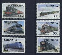 Trains Locomotives Grenada #1120 - 1125 Mint NH  Cplt 1982 $6.95 Retail Value