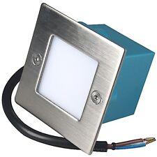 2 x LED Wandeinbaustrahler 220V / Innen / Aussen / IP54 / Treppen / Stufenlampen