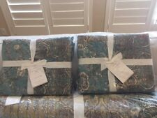 2 Pottery Barn Neena Patchwork Quilted Euro Shams New