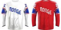 NEW 2020 Norway Norge Hockey Jersey ZUCCARELLO MARTINSEN OLIMB TOLLEFSEN NHL