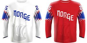 NEW 2021 Norway Norge Hockey Jersey ZUCCARELLO MARTINSEN OLIMB TOLLEFSEN NHL