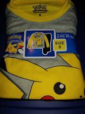 Pokemon Boys Pajama Set, 2 Piece Set sz 8