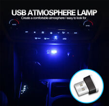 Mini USB Blue LED Light Car Interior Light Neon Atmosphere Ambient Lamp Bulds