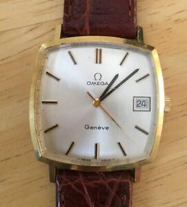 Omega Geneve 18ct Gold Vintage 70's Gent's Dress Watch Manual Ref 132.0052