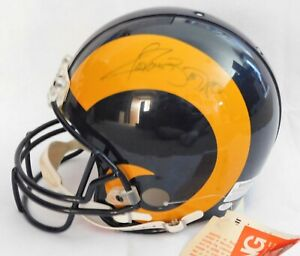 Los Angeles Rams Jerome Bettis and Lawrence Phillips Signed Full Size Helmet JSA