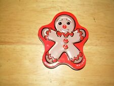 Red & Brown Jelly Bean Tin...CVS..Rare Retired...Christmas Gingerbread front..