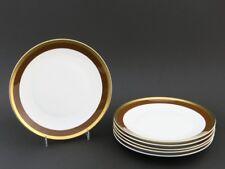 6 Kuchenteller Teller von Rosenthal mit Goldrand