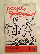 SPARTITO MUSICALE PAGA GIOVANNINO CANZONE ONE-STEP MENDES MARIOTTI 1932