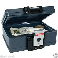 Gray Fire Water Resistant Safe Chest 0.17 Cubic Foot Security Files Possessions