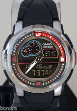 Casio AQF102W-1 Outgear THERMOMETER Watch 100M WR World Time 50 Lap Memory New