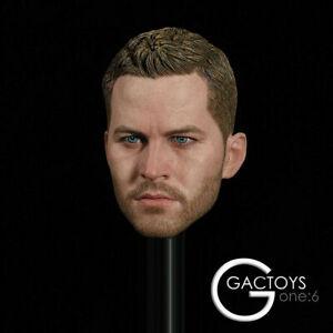 """GACTOYS 1:6 GC028 Paul Walker Male Head Sculpt Carving F 12"""" Action Figure Toys"""
