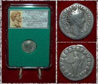 Roman Empire Coin MARCUS AURELIUS Providentia on Reverse Silver Denarius