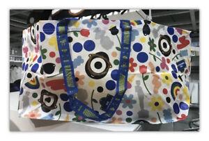 IKEA Fornyad  Darcel Rainbow  Multicolored Reusable Large Shopping Bag Rare NWT