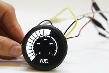 Analog Bargraph FUEL GAUGE Intellitronix WHITE LEDs! Black Bezel! 52mm 2 1/16 in