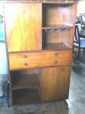 Vintage Mid Century Danish Modern Teak Storage Cabinet Bookcase Bar Cabinet
