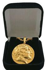Alexander & Athena, Greek Coin Pendant & Chain, Struck by Lysimachos (34-G)