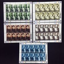 2002 Malta Personalities Sheet of 10 Stamps Unmounted NH #1234