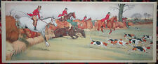 HARRY ELIOTT Print Lithograph EQUESTRIAN HORSES FOXHUNTING HUNTING Paris nd a