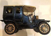 Cadillac Black Tin Litho S-1300 Friction Toy Car Vintage Shioji SSS Japan MIB