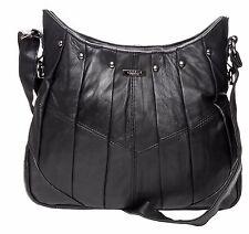 Alla Moda Donna Borsa a mano in pelle morbida borsa ultimo stile con pieghe & Borchie 1931