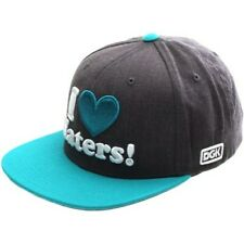 DGK I Love Haters Snapback Cap - Charcoal Heather/Teal