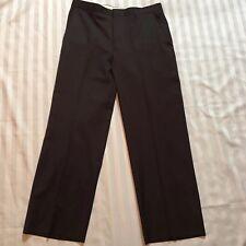 Pronto-Uomo Wool Dress Pants Mens Size 34 Brown 100% Wool Office Career