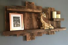 Large Rustic Wooden Floating Shelf Display Unit Wall Furniture Medium Oak Sale