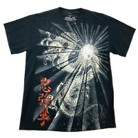 BLACK WING Mens Size Medium Black Dragon T-Shirt