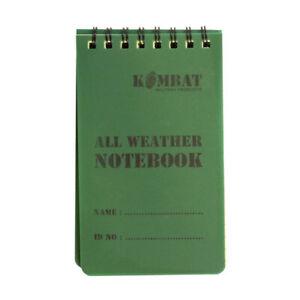 NEW KombatUK Mini All Weather Military Army Waterproof Notebook Notepad 50 Page