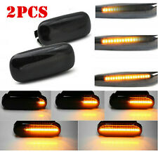 2X LED Side Marker Lights Amber Smoke Signal Light For Audi A3 S3 8P 2003-2008