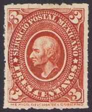 dg39 Mexico #167 3ctv Orange Red  Mint Light Hinge VF est $10-20