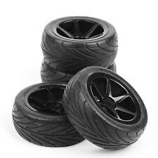 Set 4Pcs Off-Road Front&Rear Rubber Tires +Wheel Rim For RC 1/10 Buggy Car B02