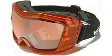 CHILDRENS ORANGE Snowboard Ski Goggles ANTI FOG SHATTERPROOF OE07