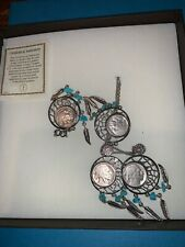 buffalo Nickel dream catcher necklace bracelet and earrings boxed gift set