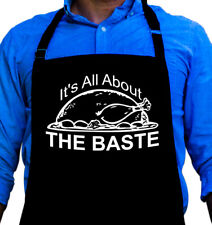 It's All About The Baste Cooking BBQ Funny Apron Gift for Dad by ApronMen