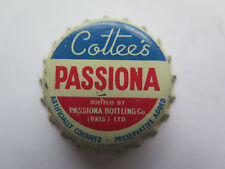 CROWN SEAL BOTTLE CAP COTTEES PASSIONA BRISBANE QUEENSLAND UNCRIMPED c1960