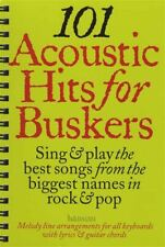 More details for 101 acoustic hits for buskers guitar / keyboard music book chord melody songbook