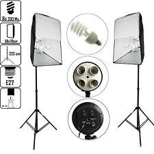 DynaSun KSHK400 4in1 2x Light Photo Studio Softbox 50x70cm Stand 8 Daylight Bulb