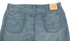 Mens Levi's 505 Blue Denim Jeans Red Tab Straight Leg 48x34 Big and Tall