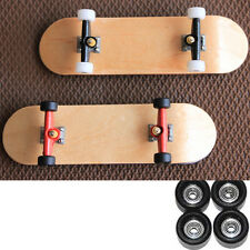 2x Bearing Wheels & Wooden Canadian Maple Deck Fingerboard Skateboards Gifts D48