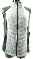 Marc New York Performance NWT $79 Women's Quilted Vest Size Large White Gray