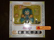 "ANIME VOCALOID Nendoroid 170# Cheerful Hatsune Miku 4""Figure Face Changable Gift"