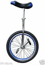 """16"""" in & Out Door Chrome Unicycle in Blue, Brand New"""