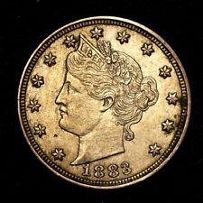 "1883 ~**XF/AU**~ Liberty ""V"" Nickel USA Rare Old Antique Coin!! #349"