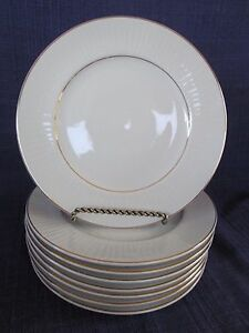 Gibson Black Tie SALAD PLATE 1 of 3 available GOLD BAND
