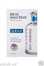 5x MISSHA Real Solution Tencel Sheet Mask Hyaluronic Acid / Intensive Feuchtig.