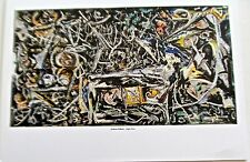 Jackson Pollock Night Mist 1945 Poster Offset Lithograph  14x11 Unsigned