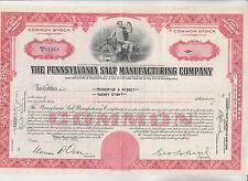 New listing 1952 Pennsylvania Salt Manufacturing Company Stock Certificate - Pennsylvania