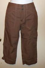 Limited Too Slim Girls Cargo Capri Pants Brown 14S NWT