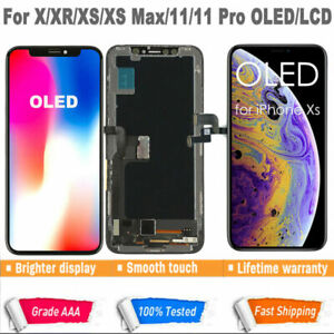 AU iPhone X XS XR Max 11 Pro OLED LCD Display Touch Screen Digitizer Replacement